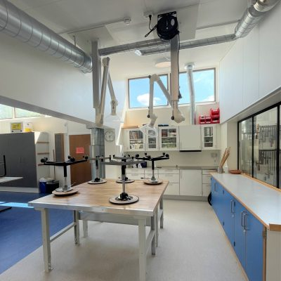 Fysiklokalet på Fuglsanggårdsskolen